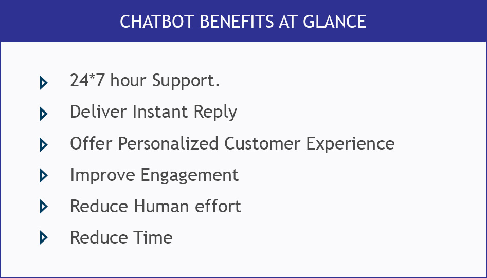 chatbot benefit at glance